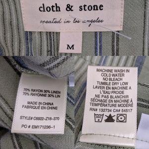 Anthropologie Dresses - Anthropologie Cloth & Stone Linen Shirt Dress M